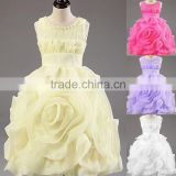 Retail Hot! New Year party baby clothing cotton girl dress, elegant and stylish design cascading elsa princess dress