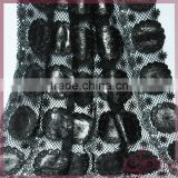 High quality black embroidery design laser cut applique french leather lace fabric for dress