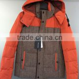 Men's down jacket stock lot garments branded clothing stock lots authentic garment stock