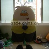 Advertising Adult Wearing Polyfoam Cute Cartoon Yellow Gentleman Flat Pig Mascot Costume