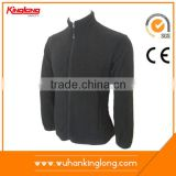 Mens high collar zip up black softtextile polar fleece jacket