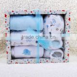 baby 5pcs clothing gift set box/baby wear/cotton newborn baby clothing/baby garments/wholesale clothing