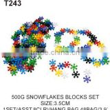 500g Snowflakes Building Block Construct Kid Toys Plum Blossom Block