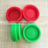 Various capacity food grade silicone wax dab jar, paste storage container