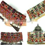 Vintage Fabric Gypsy Leather Clutch Handmade Banjara Clutch