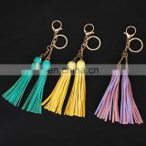 2017 Decorative tassel keychain leather tassel leather tassel for handbag