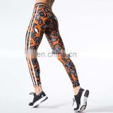 Digital 3D printing women's skinny stretch slim fitness leggings sports pants