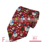 Novelty tie snowman-santa-christmas tree fabrics durable tie for christmas party