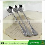 round and oval shape spoon long handle/ stainless steel amall spoon with long handle/coffee spoon tea spoon (HH-spoon-118)