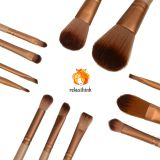 12 pcs private label makeup brush wood handle plating color Hair wool fiber Makeup Brush Tool