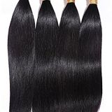 14 Inch Peruvian Natural Straight 16 Double Wefts  Inches Brazilian Curly Human Hair
