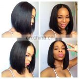 Hot fashion beauty human hair short bob lace front wig