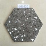 Terrazzo Black Indoor 30x26cm Porcelain Hexagon Tile