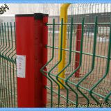 2.5m Width Vinyl Electrostaic Paint Powder Galvanized 3D Curved Welded Mesh Fence