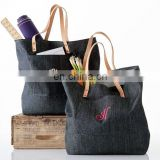 Ladies big shoulder jean tote bags