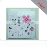 2016 new style handmade decoration christmas greeting cards for friends/cute bear/lovely flowers greeting cards