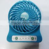 5v large airflow usb mini fan for phone with led clock