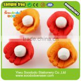 Chinese funny pencil erasers manufacturer baseball shaped