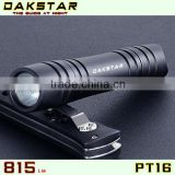 DAKSTAR PT16 CREE LED XML T6 815LM 18650 Police Emergency Aluminum Rechargeable Mini Flashlight