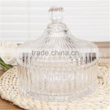 crystal glass candy jars with glass lids glass bowl for food                                                                         Quality Choice