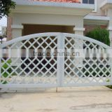 steel fence gate,metal fence gate for yard, copper color strong yard gate, entrance iron gates