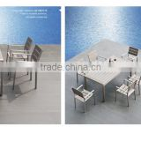 Noway Royal fashio Garden/Outdoor composite wood/plastic wood/WPC dining table and dining chairs furniture