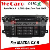 "Wecaro Android 4.4.4 car stereo 8"" 2 din for nissan qashqai car dvd gps bluetooth WIFI 3G 1080p 2014 2015"
