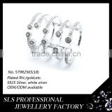 Turkish gemstone rings 925 silver open ring in half finger ring for women in Party ,engagement ,wedding occassion
