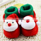 Christmas socks shoes baby toddler shoes children's winter shoes red shoes for baby