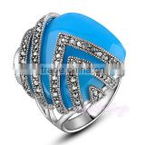 Handmade jewelry blue topaz gold gay men ring