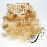 "niceremyhair wholesale fashion high quality 613# 18"" body wave Brazilian clip in half wig"