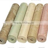 2015 new product cheap and good quality non-woven wallpaper for bedroom and TV background