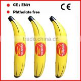 Promotional toys inflatable banana with logo printed European approval