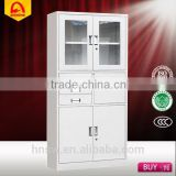 quality assurance hospital instrument cabinet office file cabinet with drawers and glass door