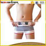 Teenager boys boxer swim brief plain OEM swimwear for mature men