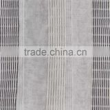 2013 polyester linen stripe sheer curtain fabric made in shaoxing