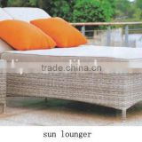 modern luxury outdoor leisure rattan/wicker sun lounger with two seater