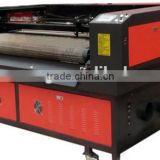 auto feeding fabric leather clothes laser cutting machine/ Efficient two head auto feeding co2 laser cutting machine price