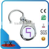 customized metal euro coin key chain china factory