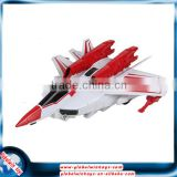 Wholesale 1:14 remote control plane model, 2.4GHz rc airplane, one buttom to transform the combat aircraft into a toy robot
