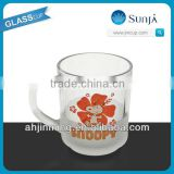 SH66 new design Snoopy glass juice cup children like frosted Snoopy glass juice cup mug with handle