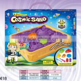 Intelligent magic modeling space sand magic modeling sand set with space robot molds cosmic sand toys for children 750g