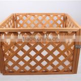 BSCI factory nature wooden Deluxe Free standing Pet Gate with Door / Wooden pet gate / dog fence