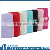 Factory Price Bling Bling Diamond Leather Cover for HTC One 2 M8, for HTC One 2 M8 Mobile Phone Case