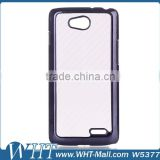 Hight Quality Products Carbon Fiber Skin Leather Chrome PC Case Cover for LG L90 Cell Phone Cases Wholesale