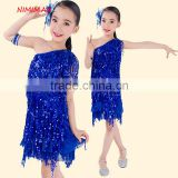 2016 Brand new sexy tassel kids latin dance dress children dancing performance costumes for girls