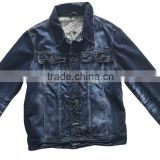 Female lastest design women strech washed denim jackets ladies blue jeans coats high quality factory