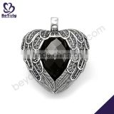 Heart design angel wings silver pendant jewellery                                                                         Quality Choice