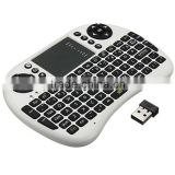 Wholesale high quality bluetooth keyboard with wireless android tv box remote control fly mouse Three functions in one
