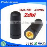 Antenna factory SMA-pin interface with wireless transceiver module antenna 433MHZ (industrial grade) rubber antenna